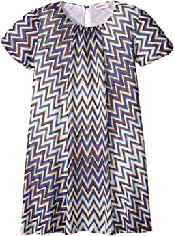 Lurex Zigzag Dress (Toddler/Little Kids)