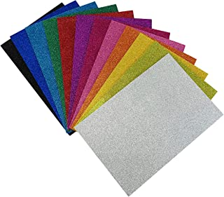 """Allgala 12 Pack Glitter EVA Foam Paper 8"""" x 12"""" Sheets - Assorted Colors - Perfect for Kids Art Projects and Classrooms or..."""