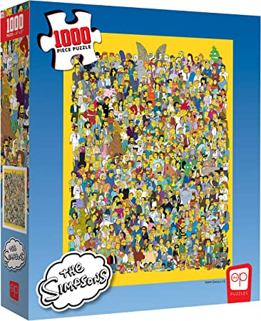 The Simpsons Cast of Thousands 1000 Piece Jigsaw Puzzle