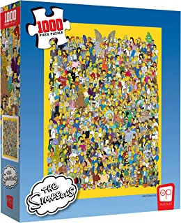 USAOPOLY The Simpsons Cast of Thousands 1000 Piece Jigsaw Puzzle | Officially Licensed Simpsons Merchandise | Collectible ...
