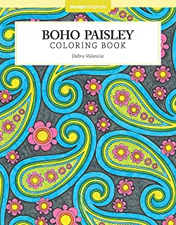 Boho Paisley Coloring Book (Design Originals) (Color Studio)