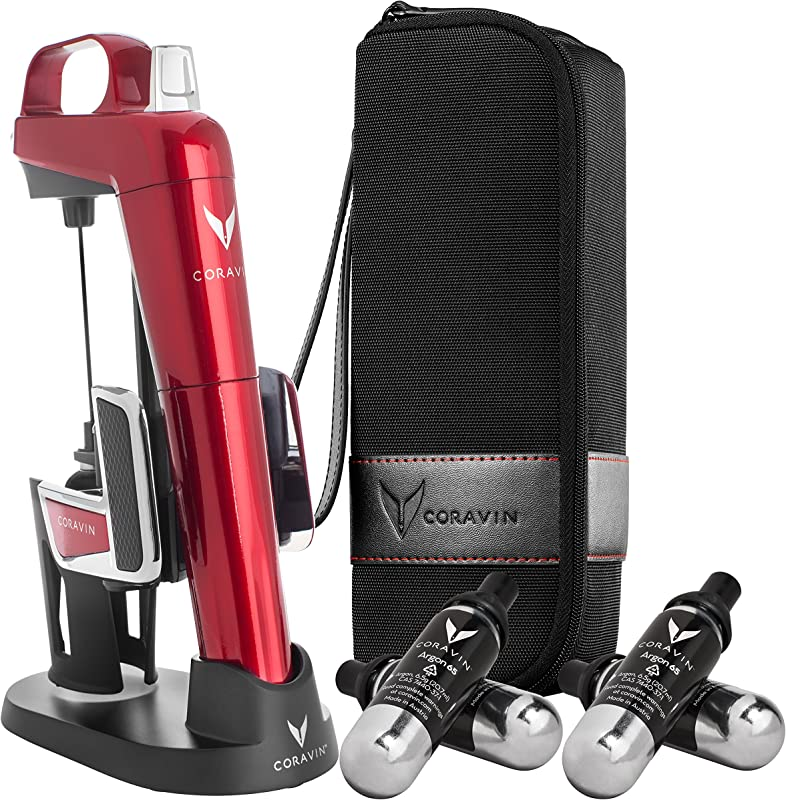 Coravin Model Two Elite Pro Wine Preservation System Candy Apple Red