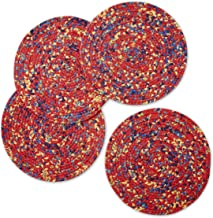 The Pioneer Woman Floral Braided Placemat (Round), Pack of 4 (Red - Fiona Floral)