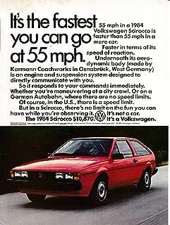 1984 VW Scirocco-The Fastest You Can Go At 55 MPH-Volkswagen-Original Magazine Ad