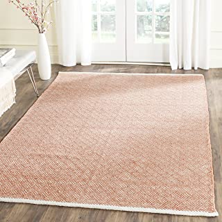 Safavieh Boston Collection BOS680C Handmade Orange Cotton Area Rug (5' x 8')