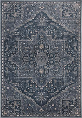 Amazon Com 4620 Distressed Blue 5 2x7 2 Area Rug Carpet Large New Furniture Decor