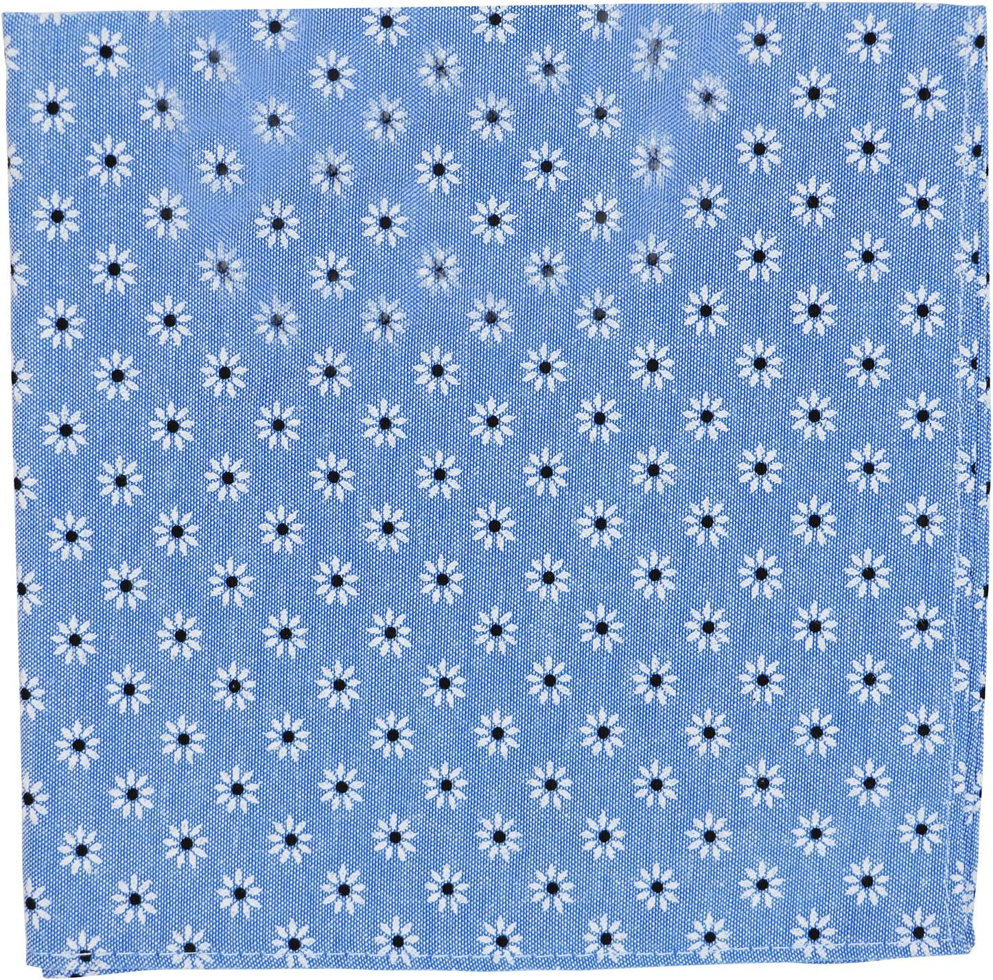 Tommy Hilfiger Oxford Daisy Pocket Square (One Size, Blue)