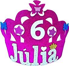 HANDYLANDIA Corona CUMPLEAÑOS con Nombre Goma EVA Modelo Luna
