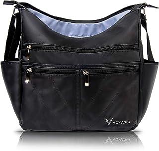 Voyanni Large Crossbody Bags for Women RFID Anti Theft Travel Purse Multi-pocket Nylon