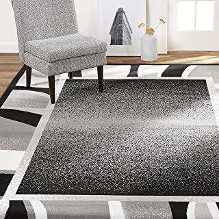 Home Dynamix Lyndhurst Rotana Modern Area Rug, Contemporary Black/Gray 5'2