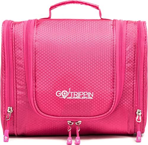Gotrippin Travel Toiletry Bag for Women, Hanging Toiletries Pouch with Compartment for Bottles, Tooth Brush, Cosmetic...