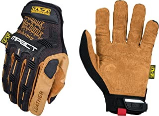 Mechanix Wear - Leather M-Pact Gloves (X-Large, Black/Brown)