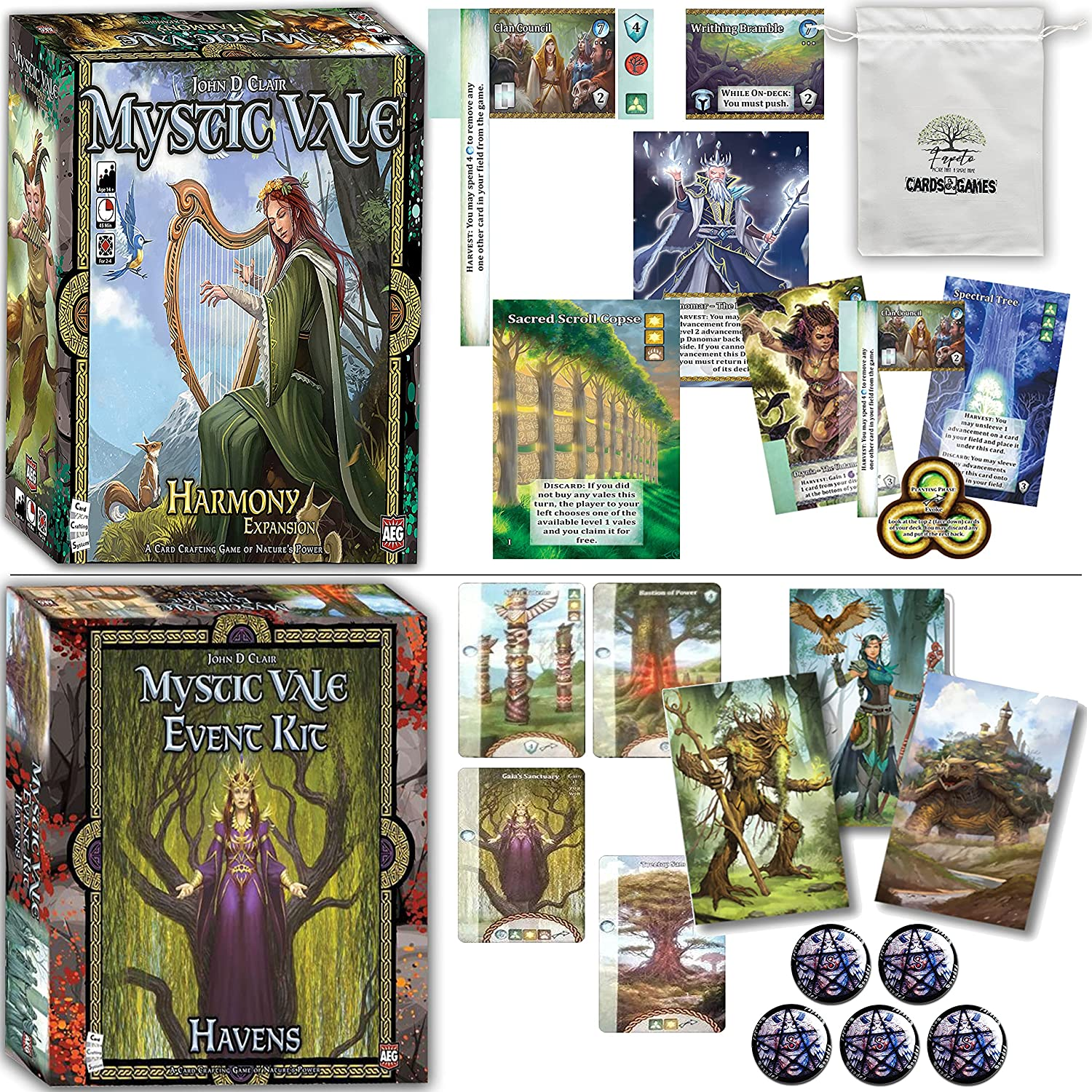 Buy Mystic Vale Board Game Base Bundle with Conclave,Twilight ...