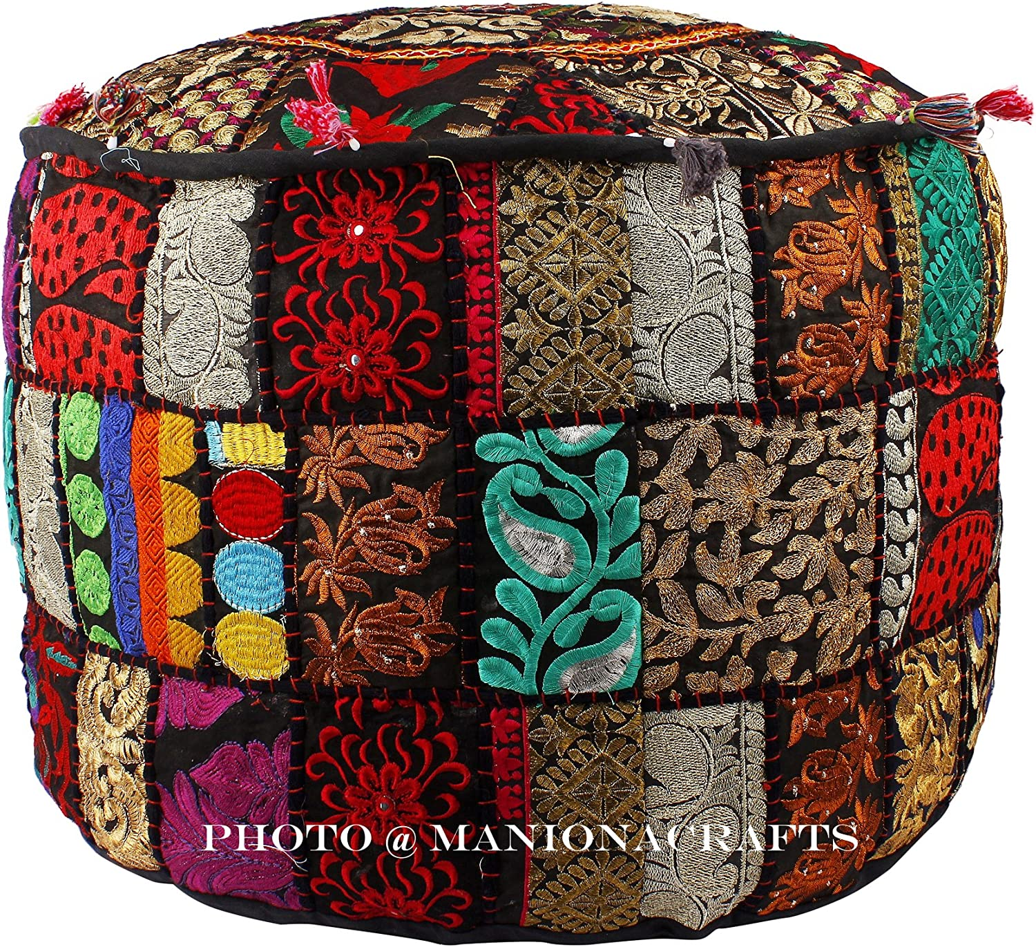 Maniona Crafts Indian Patchwork Pouf Max Courier shipping free shipping 69% OFF Room Living Po Cover