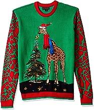 Blizzard Bay Men's Ugly Christmas Sweater Animals, Red/Orange, Medium
