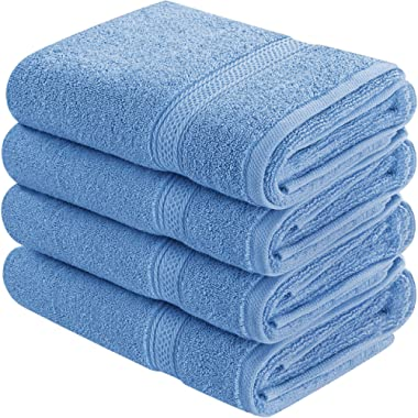 Utopia Towels Cotton Hand Towels, 4 Pack Towels, 600 GSM, Wedgewood