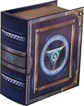 Grimoire Pro Tour, Arbiter | Wooden Spellbook Style Fabric Lined Portable Deck Box for MTG, Yugioh, and Other TCG | 350+ Card Capacity