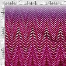 oneOone Organic Cotton Poplin Twill Fabric Chevron Panel Fabric Prints by Meter 42 Inch Wide