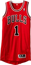 NBA Chicago Bulls Red Authentic Jersey Derrick Rose #1