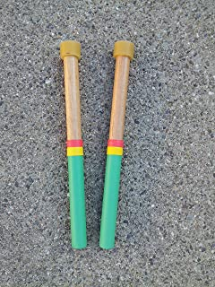 KaKesa Steel Drum Pan Mallets Sticks Wood Rasta - Lead Tenor