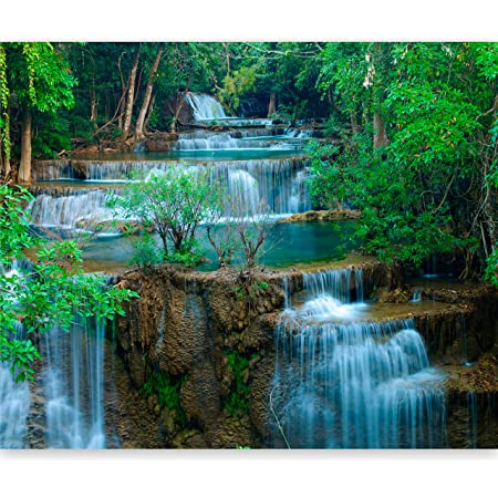 Waterfall Landscape Photo Wallpaper Art Wall Mural Home Decor Pre-pasted Sticker