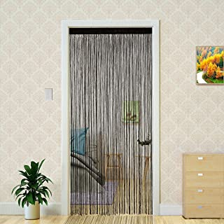 Door String Curtain for Living Room Home Decorations Room Decor DIY Tassel Screen Wedding Party Decor 39x79 inch (Ecru, 10...