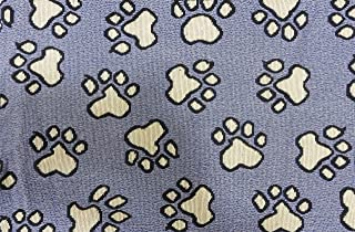 MyMadison Home Set of 4 Cloth Placemats 100% Cotton Printed Dog Paw cat pet Design Jacquard Collection Anti-Skid Machine W...