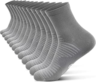 Compression Running Ankle Socks for Men and Women (6 Pairs), Quarter Athletic Socks for Running, Cycling, Golf, Work