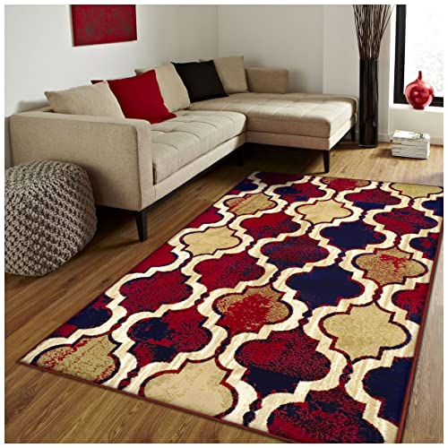 Blue And Red Rug Amazon Com