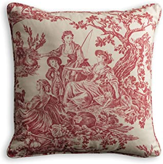 red toile background