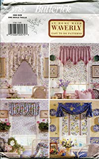 Butterick Pattern 3785 At Home with Waverly Window Valance and Shade Package