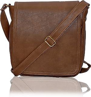 Dn Enterprises Leather Handmade Unisex Long Flap Cross-Body Sling Bag for Men/Boys/Shoulder Bag for Men.
