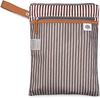 Parker Baby Cloth Diaper Wet Dry Bag - Waterproof Reusable Diaper Bag Accessory with Mesh Organizer and Zippered Pocket fo...