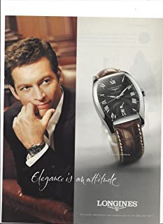PRINT AD With Harry Connick Jr. For 2005 Longines Evidenza Watches