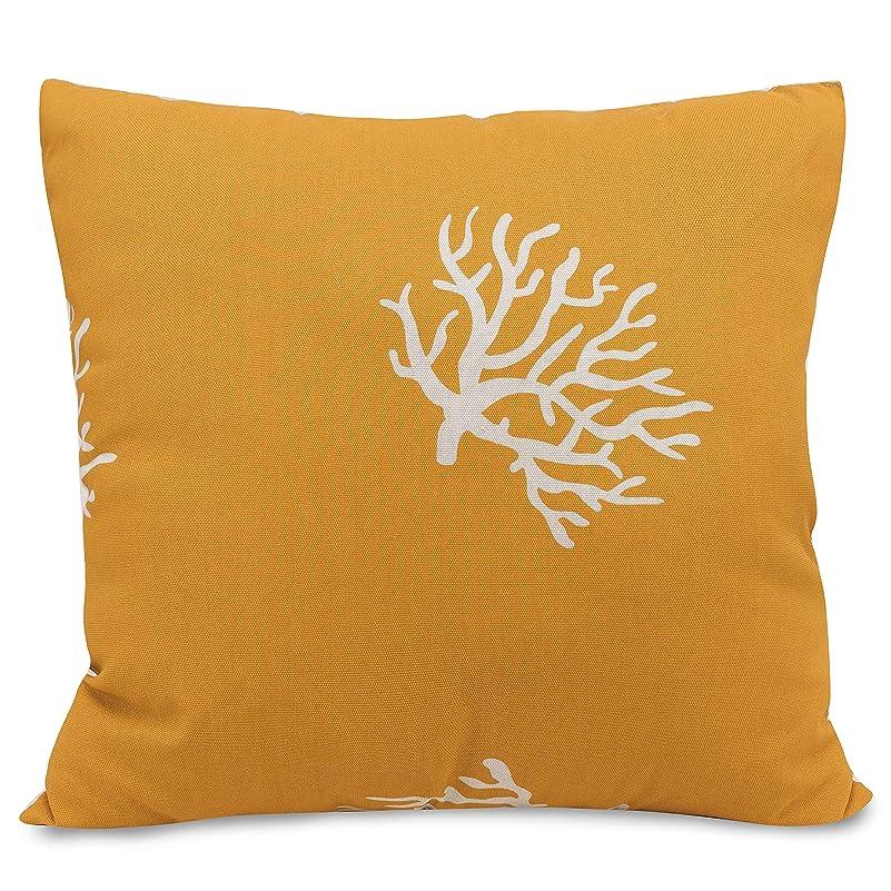 インストラクター品揃えホバーMajestic Home Yellow Coral Large Pillow