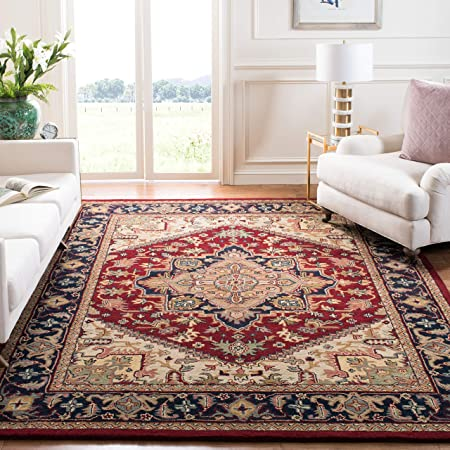 Safavieh Heritage Collection Hg625a Handmade Traditional Oriental Premium Wool Area Rug 8 X 10 Red Furniture Decor
