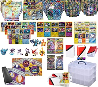 Totem World Pokemon Cards Super Premium Collectors Chest Case: 1 Secrets Rare, 1 Tag Team GX, 1 GX, 2 MEGAs, 3 EXS, 20 Rares, 10 Foils, 4 Boosters, Playmat, Totem Deck Box Sleeves, and Mini Binder
