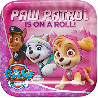 American Greetings Paw Patrol Party Supplies, Pink Paper Dinner Plates (40-Count)