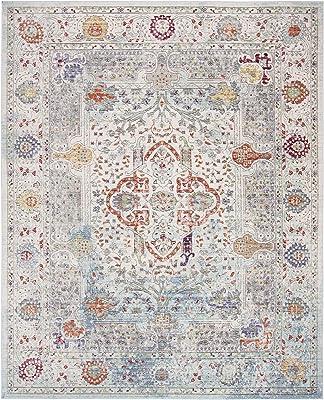 Safavieh Valencia Collection VAL145M Area Rug, 8' x 10', Blue/Multi