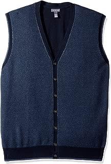 Van Heusen Men's Big and Tall Button Front Sweater Vest