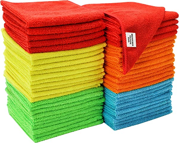 S T ST 968601 Assorted 50 Pack Microfiber Cleaning Cloth 50 Pack