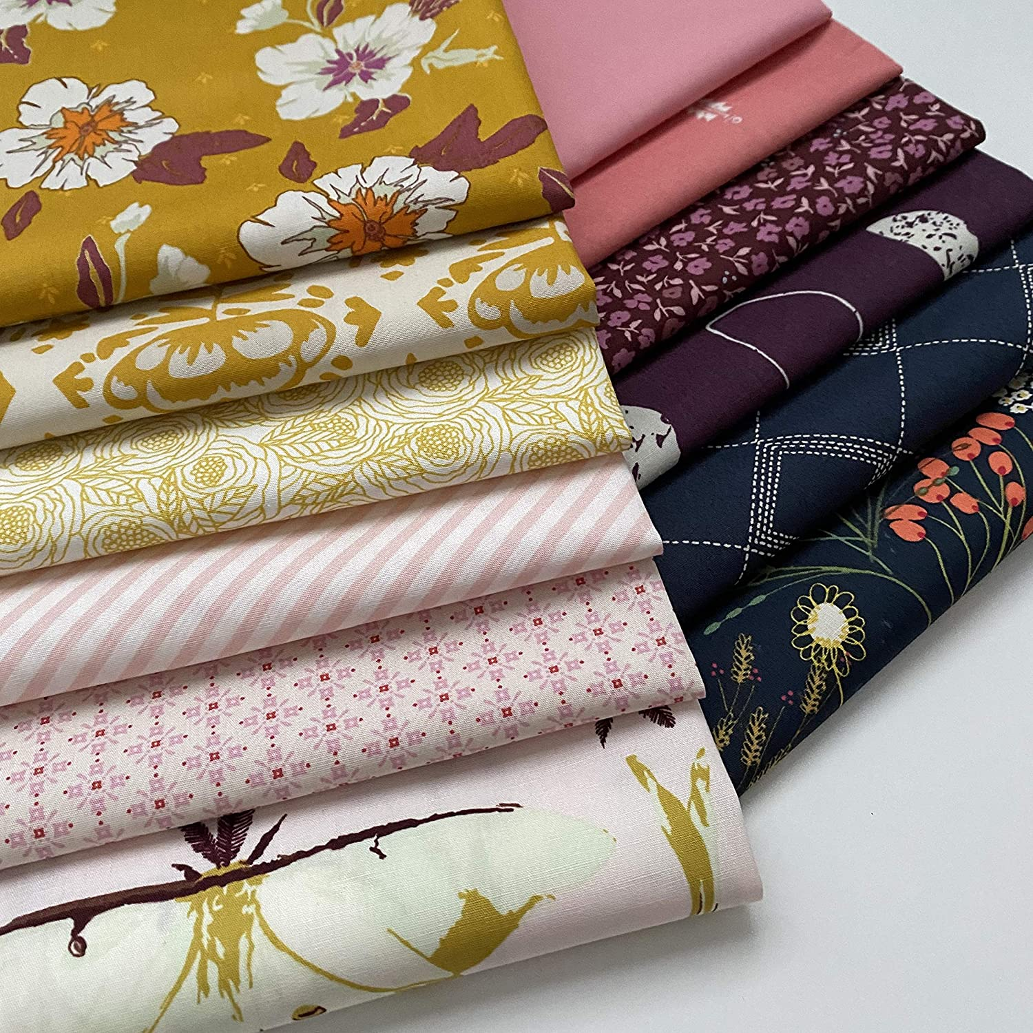 Neon lights fat quarters fabric bundle of 16 assorted fabrics Bright coloring great quality