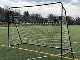 Vallerta 10x6 Ft. Steel Soccer Goal w/Bungee Straps & Anchors. Portable Practice/Training Aid. Perfect for 5 vs 5. 10 x 6 Foot.