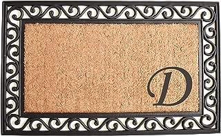 monogram coir doormat
