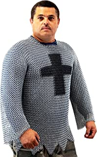 Medieval Knights Full Sleeve Hauberk Chainmail Large