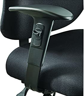 Safco Products 3399BL Adjustable Width Arm Set for use with Alday 3391, Vue 3394 and 3397 Chairs (sold separately), Black