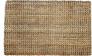 Iron Gate Handspun Jute Area Rug 3x5 Hand Woven by Skilled Artisans, 100% Natural eco-Friendly Jute Yarns, Thick Ribbed Construction, Reversible for Double The wear, Rug pad Recommended