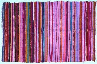 Guru-Shop Alfombra Ligera Patchwork, Manta Patchwork 100x160 cm, de Color Rosa, Algodón, Color: de Color Rosa, Alfombras y Tapetes