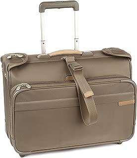 Briggs & Riley Carry-On Wheeled Garment Bag,Olive,14x21x8.5