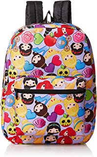 Little Girls Princess Emoji Print Backpack, Purple, One Size